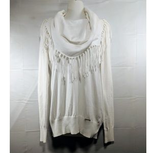 ⚜️ {Michael Kors} Fringe Cowl Neck Sweater